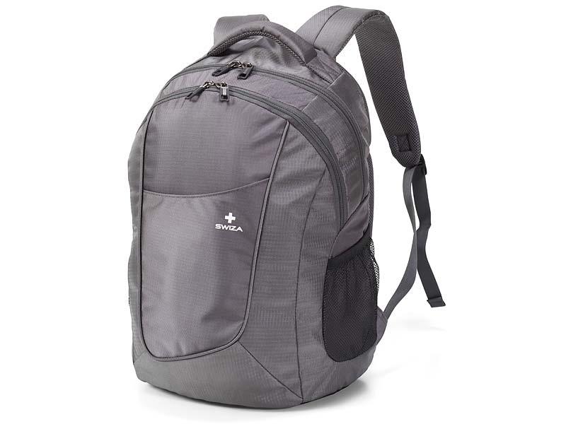 swiza gris sac dos portaris avec ordinateur portable et ebay. Black Bedroom Furniture Sets. Home Design Ideas