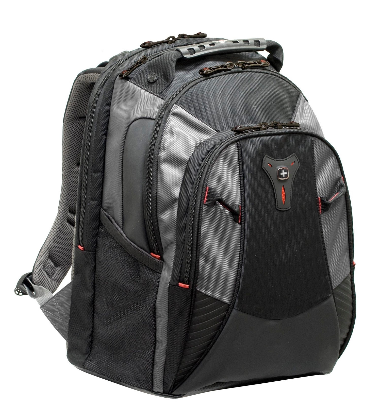Wenger MYTHOS grey Backpack Notebookrucksack schwarz/grau