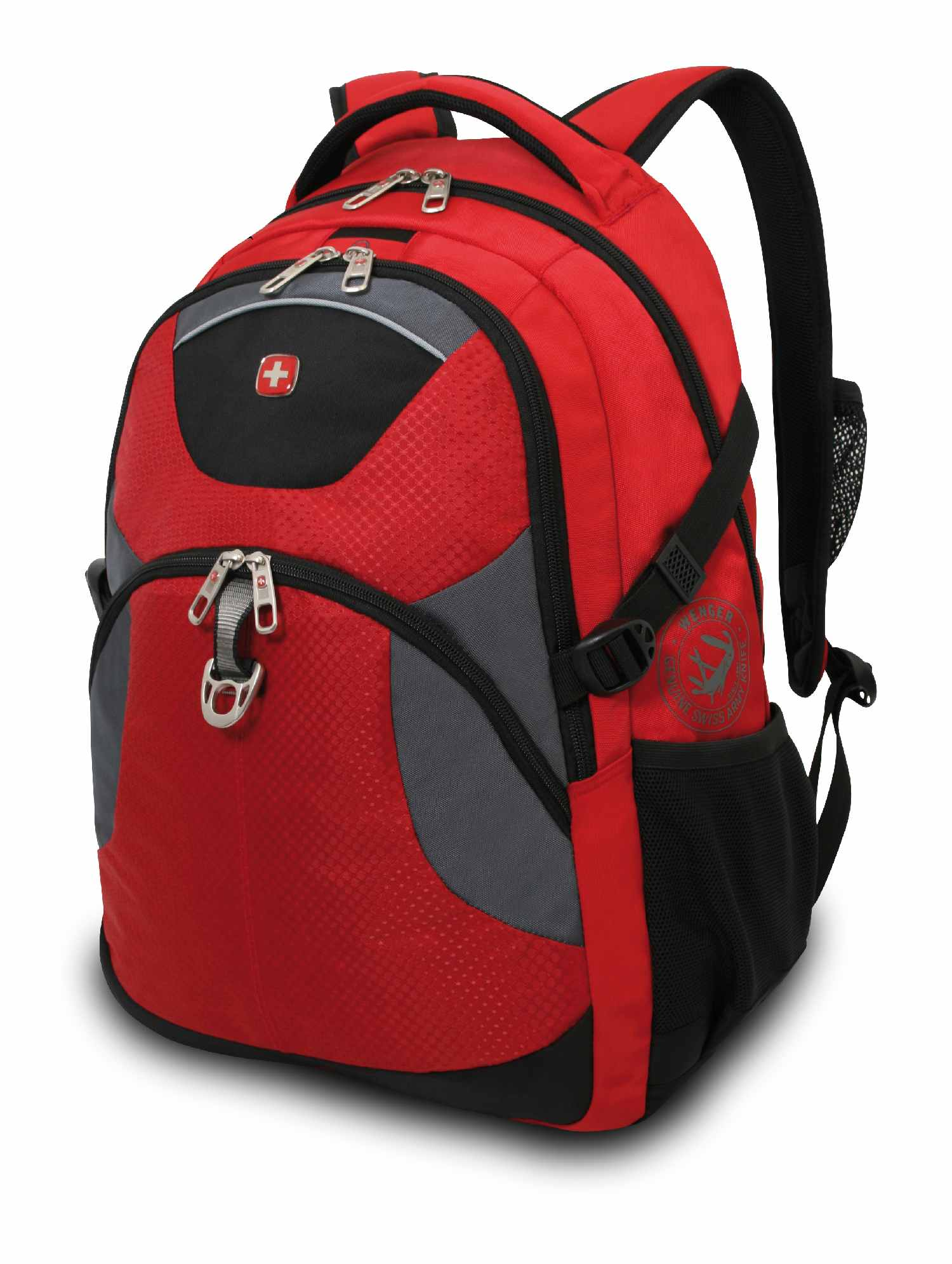 wenger rucksack mit laptoptasche bis 15 39 39 rot grau schwarz. Black Bedroom Furniture Sets. Home Design Ideas