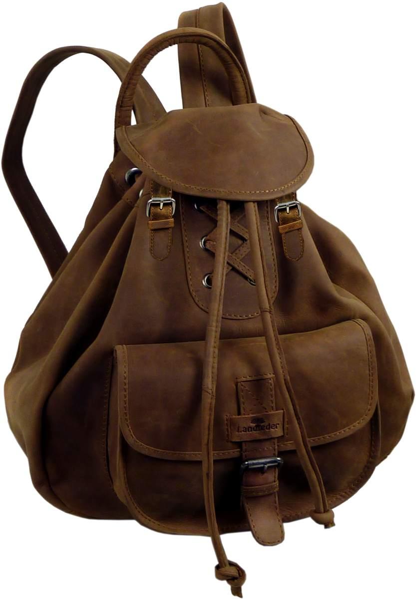 old school rucksack leder